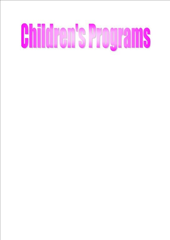 Children's Programing Banner