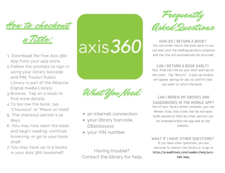 Axis 360 eBooks